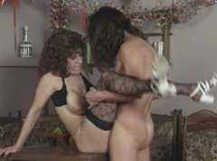 Voracious brown haired MILF Margareta has saggy boobs and hairy pussy