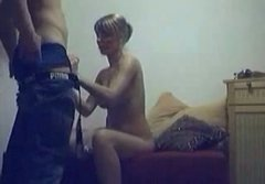 Horny dude drilling his well stacked girlfriend on a hidden cam