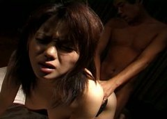 Pale skin whore Akane Kuramochi gives blowjob and bends over for doggy style