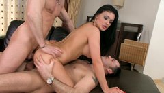 Sexy Aletta Ocean getting double penetrated as usual