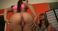 Sultry bitches Ava Devine and Jynx Maze are posing naked in front of the camera