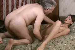 Old dude gets a solid blowjob for cum provided by kinky Hermione