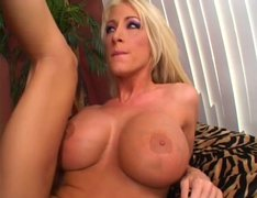 Busty blondie Nadia Hilton gets her quim banged doggy