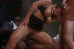 Aphrodisiac blonde Devon Lee pounded hard in double penetration