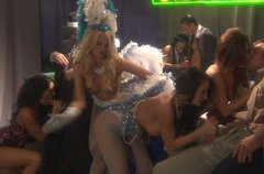 Grande sex celebration in casino with Jessica Drake, Kaylani Lei, Kirsten Price, Alektra Blue and Mikayla Mendez