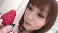 Sweet and pretty Japanese girlie Miina Yoshihara likes fingerfucking her quim