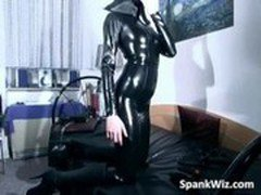Girl in latex gets her hot sexy body