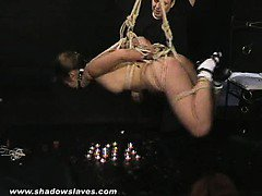 Asian water suspension bondage and Kokos teen bdsm