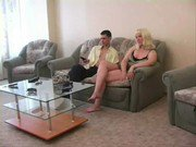 Horny Mom and Son Having Sex On Sofa