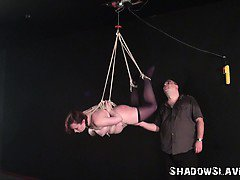 Suspension, bondage, needle, bdsm, fat, slave girl, strict,