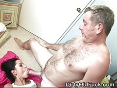 Teen Slut Getting Fucked By Old Man And Taking Facial