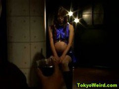 Pregnant asian fetish girl tied up