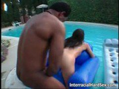 Sexy slut fucks with big black cock
