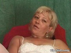 Incredible solo action with horny mature