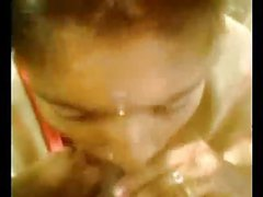 Tamil girl sucking his dick with her bf