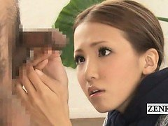 Subtitled CFNM Japanese bizarre group penis inspection