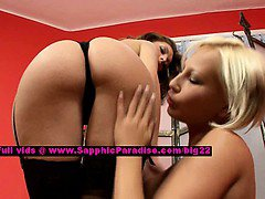 Bety and Chyanne lesbo teen girls teasing