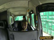 Horny Olga rides a cab and gets pounded hard in the backseat by the pervy driver