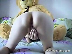 Petite Girl Fucks Teddy Bear