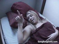 Home invasion on two horny blonde MILF