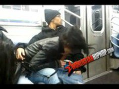 Ratchet hoes sucking dick on the 6 train