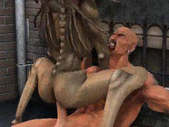 Hot 3D cartoon monster babe getting fucked hard