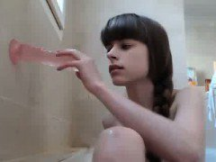 Webcam Girl Fucks Her Dildo In Shower 3