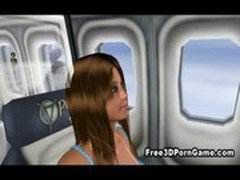 Foxy 3D cartoon brunette babe gets licked and fucked