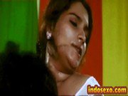 Indian older woman039s boobs get licked with honey by young guy