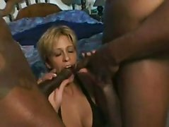 2 Black cocks for White Wife