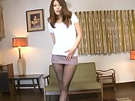 Sexy Japanese woman with long legs loves hard fucking