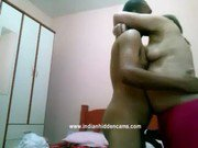 mature indian bhabhi with her man in bedroom sucking and fucking him hard mms