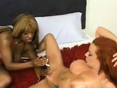 Redhead And An Ebony Slut