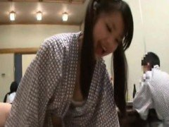 Subtitle Japan schoolgirl blowjob and sex at restaurant