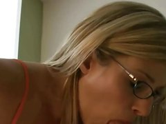 Horny MILF with Glass Fuck in morning