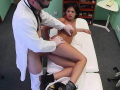 Doctor licks and fucks sexy patient in fake hospital