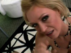 MILF busty hottie passionate blowjob