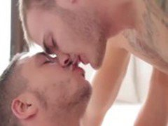 Horny hunky gays get off with hot bjs
