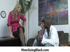 Hard-core interracial MILF sex - Big Black Monster Cock 37