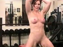 Muscular MILF Exercising