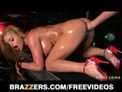 Big-booty blond stripper loves being fisted &amp_ fucked in her ass