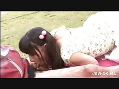 young sweety outdoor bj
