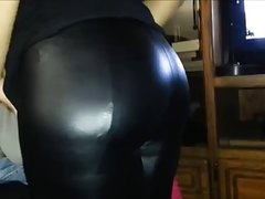 Leggins Legins Lycra Spandex Shiny Tight 1