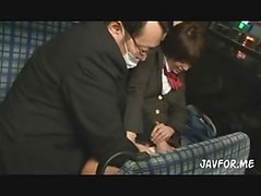 school girl bj in bus