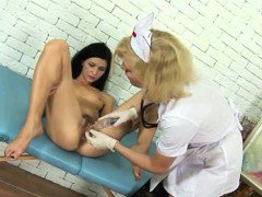 Lesbian doctor and shy teen patient