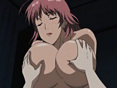 Two huge titted hentai babes gets fucked in threesome