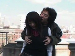 Subtitles Japanese rooftop public nudity POV blowjob