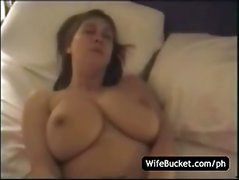 Busty wife hotel room sex tape
