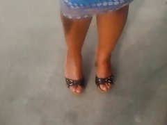 Ebony Soles In High Heel Sandals