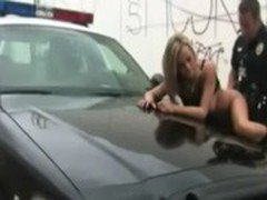 Beauty Bree Olson getting nailed by police officer